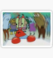 Blurry Mr Krabs Meme Sticker Sticker