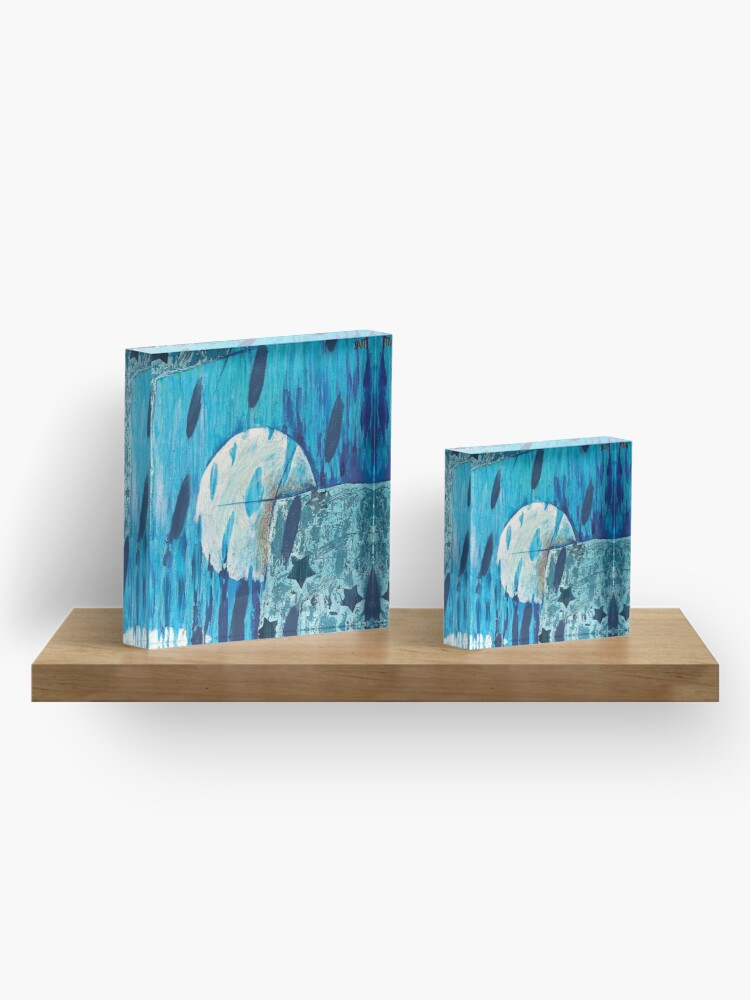 Alternate view of 3 Moons Dream Panorama Acrylic Block