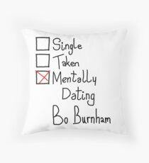 Mentally Dating Bo Burnham Throw Pillow