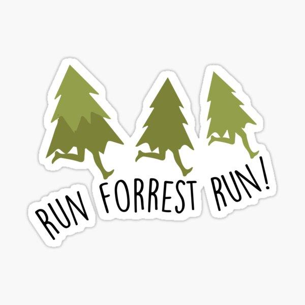 Courez Forrest Run - Forrest Gump Sticker