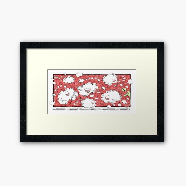 Gigglefit Red Framed Art Print