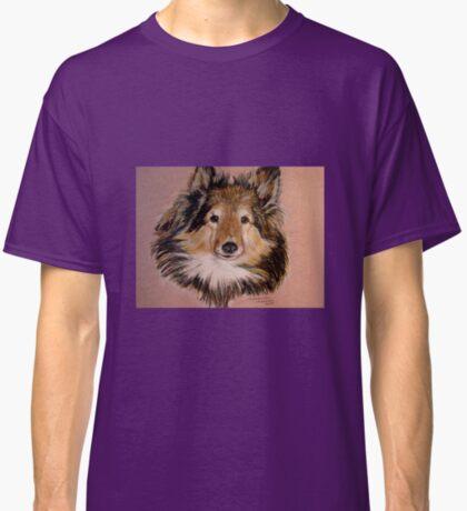 """Jammers"" Portrait Of A Sheltie Classic T-Shirt"