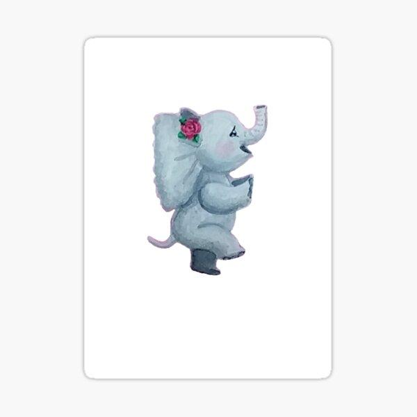 Dancing Elephant  Sticker