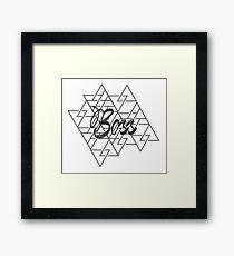 Boss Framed Print