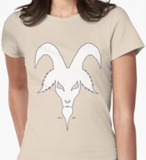 SILLOUETTE GOAT HEAD Womens Fitted T-Shirt