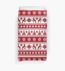 Christmas Holiday Nordic Pattern Cozy Duvet Cover
