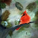 Winter Cardinal by Brenda Thour