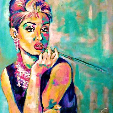 Frühstück mit Audrey: Audrey Hepburn Portrait von Jevie