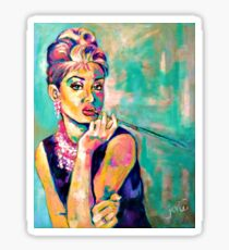 Breakfast With Audrey: Audrey Hepburn Portrait Sticker
