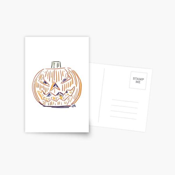 Abstract Jack o Lantern  Postcard