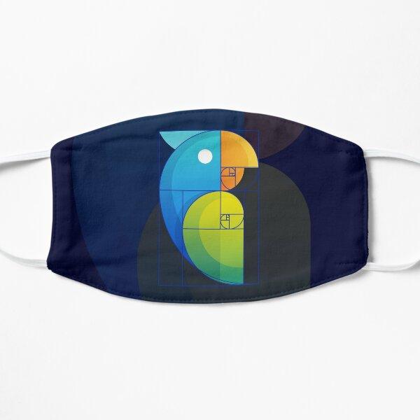 Fibonacci parrot Flat Mask