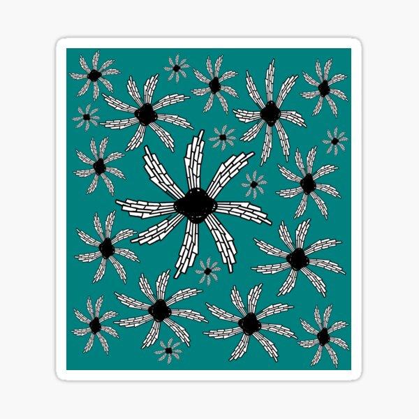 Teal spiral wind catcher pattern Sticker