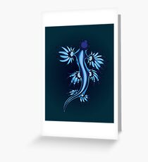 Exotic Nudibranch Glaucus Atlanticus Blue and White  Greeting Card