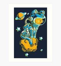 Raum Katze Kunstdruck
