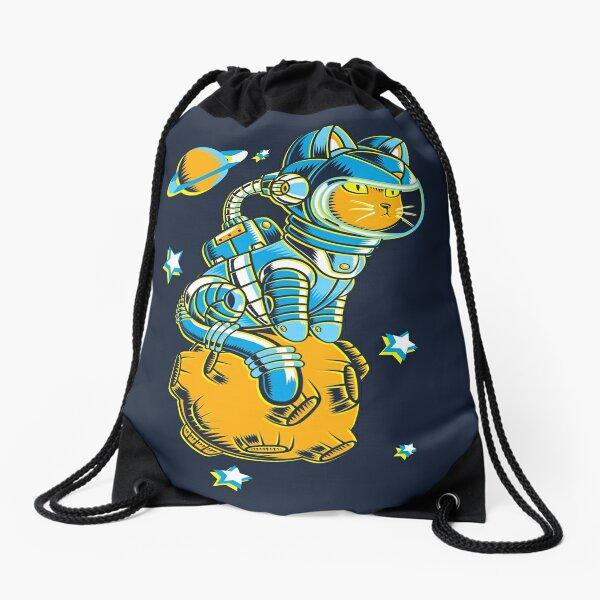Space Cat Drawstring Bag
