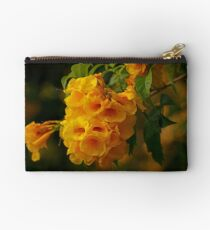Yellow Flowers at the Bay Studio Pouch