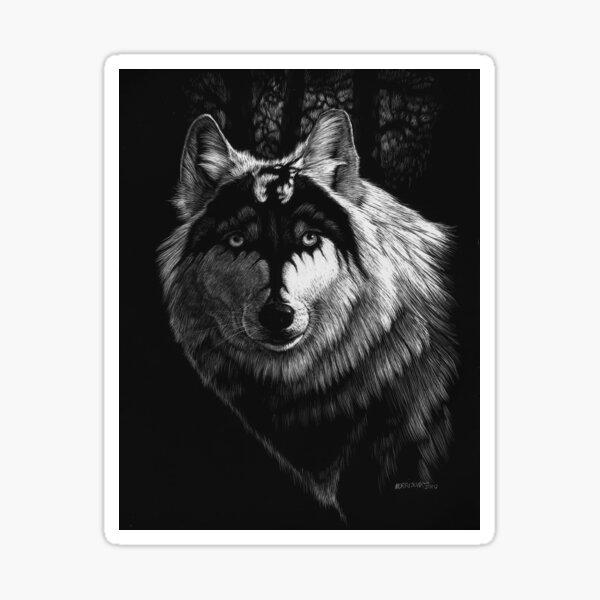 DRAGON WOLF Sticker