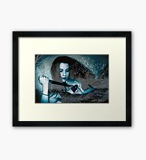 a blues in drag Framed Print