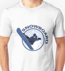 Extreme sport snowboard design T-Shirt
