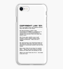 COPYRIGHT LAW 101 iPhone Case/Skin