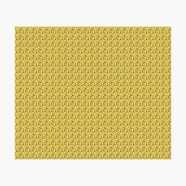 Yellow Golden Blurred Flower Pattern Mechandise Photographic Print