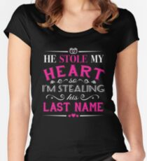 HE STOLE MY HEART Women's Fitted Scoop T-Shirt