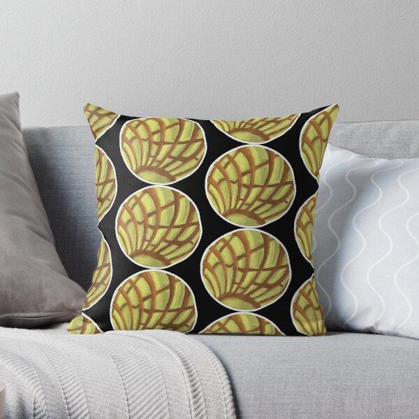 Yellow Concha Pan Dulce Cookie  Throw Pillow