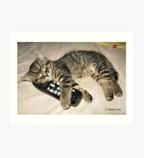 Mommy sings me lullabies Art Print