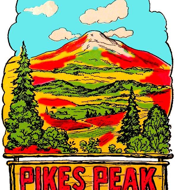 Pikes Peak Colorado Vintage Reise Aufkleber von hilda74