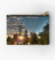 sunset through the trees Studio Pouch