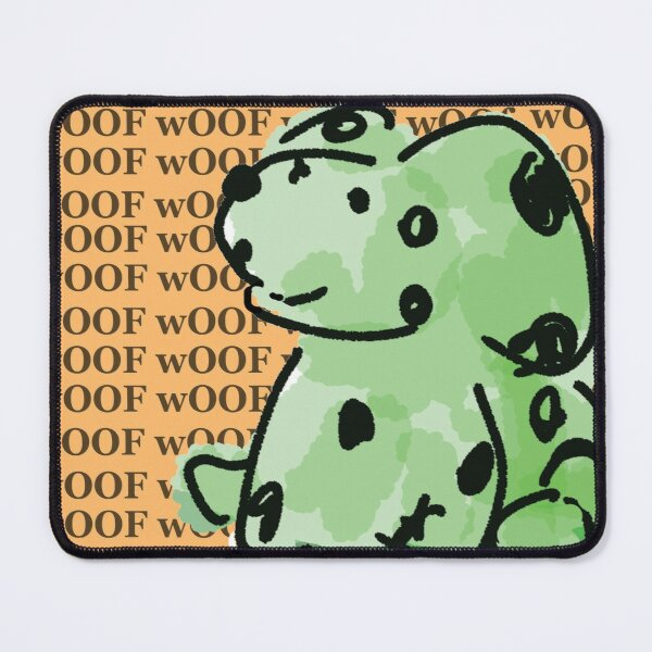Cheerful Green Zombie Dog Mouse Pad