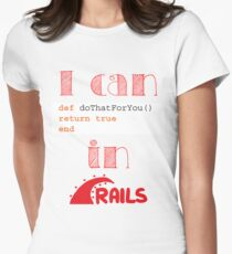 Do It in Rails Womens Fitted T-Shirt