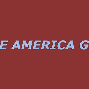 Lass uns Amerika wieder homosexuell machen - Blau von PlatypusDoodles