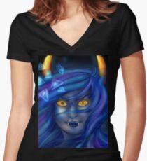 LUCK Women's Fitted V-Neck T-Shirt