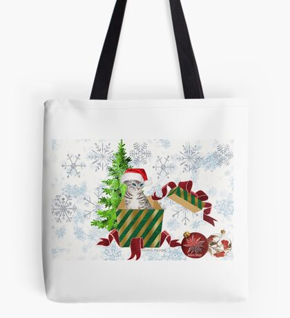 Christmas Cat  (6466 Views) Tote Bag