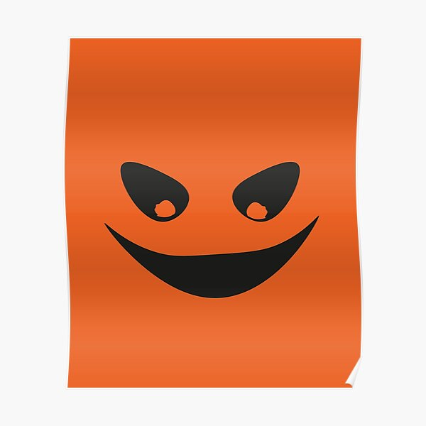Halloween simple face Poster