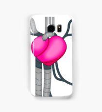 Robot Heart Steampunk Design Pink Samsung Galaxy Case/Skin