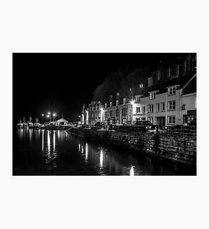 Portree Harbour at Night Photographic Print