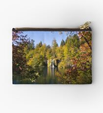 The waterfall between the trees Studio Pouch