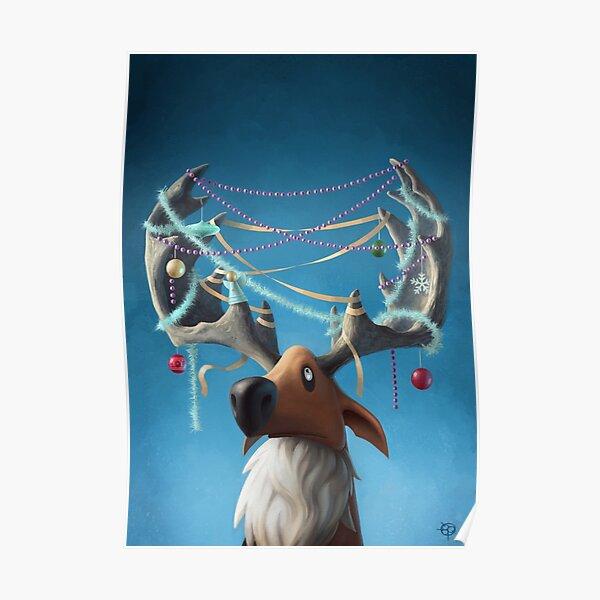 Christmas Reindeer (no text) Poster