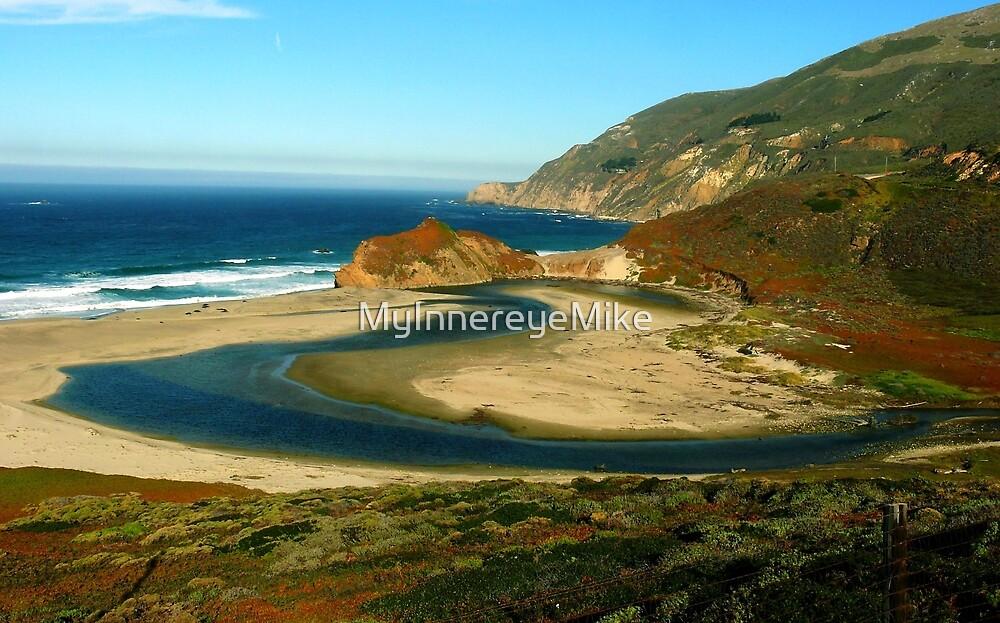 #1115  River Meets Ocean In Big Sur by MyInnereyeMike