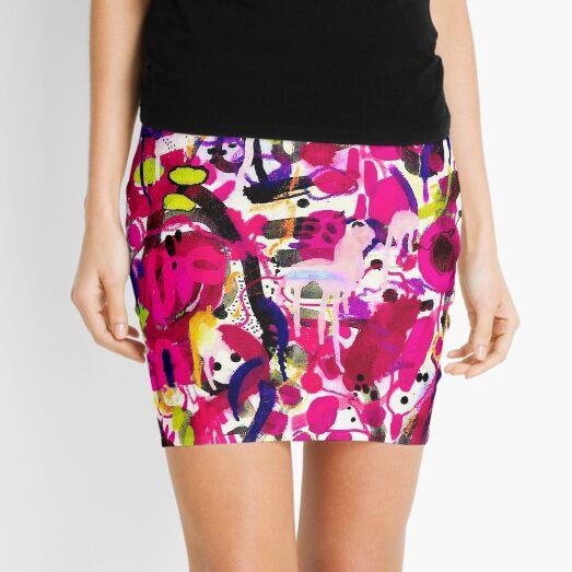 pink graffiti Mini Skirt