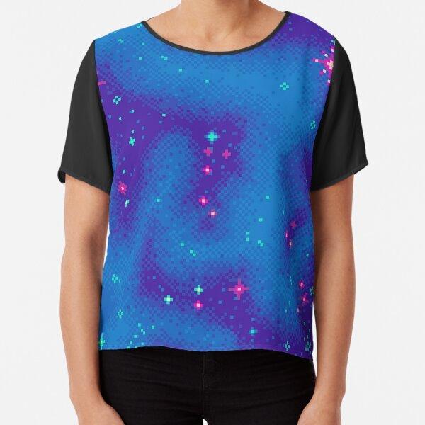 Indigo Nebula (8bit) Chiffon Top