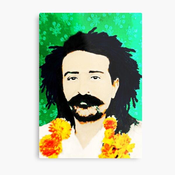 Meher Baba w Marigolds Metal Print