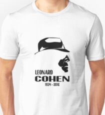 Leonard Cohen 1934 - 2016 Unisex T-Shirt