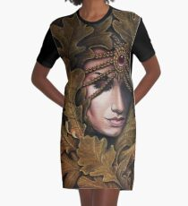 Mabon - goddess of fall Graphic T-Shirt Dress