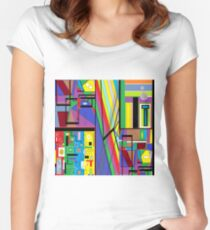 Geometry Abstract Women's Fitted Scoop T-Shirt