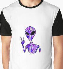 Trippy Alien 5 Graphic T-Shirt