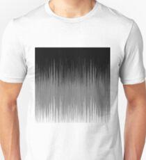 Black and White Line Background Unisex T-Shirt