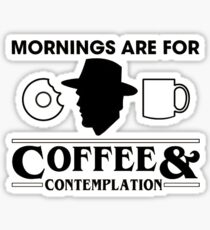Stranger Things - Coffee & Contemplation  Sticker
